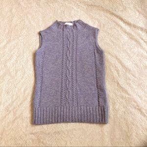 Escada cashmere blend knit sleeveless sweater